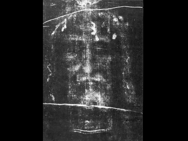 Face of Jesus in negative